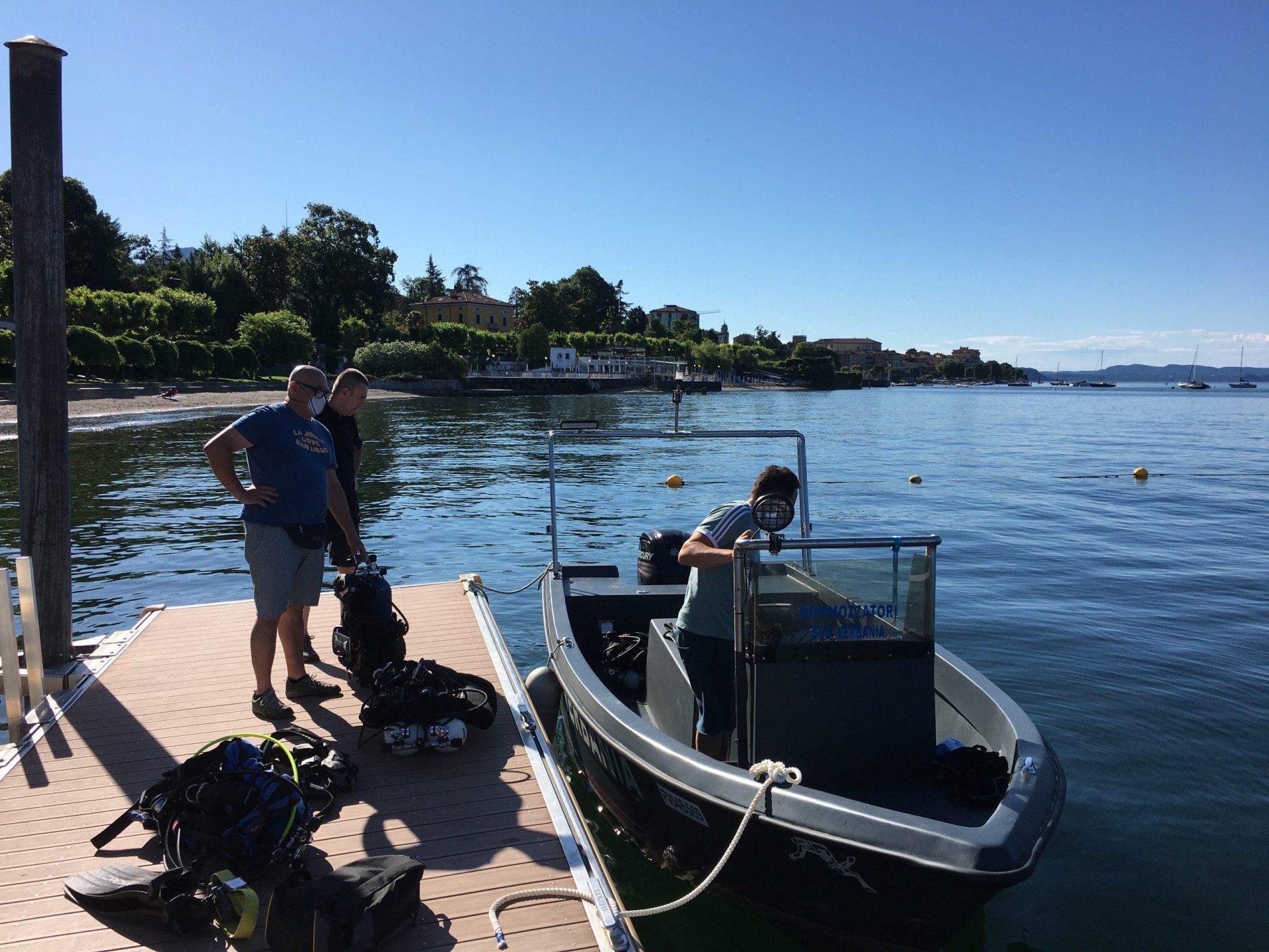 Primo giorno d'estate, prima uscita della nuova barca diving.